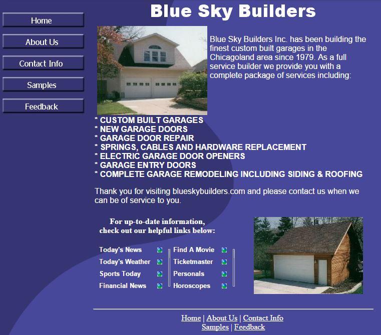 Blue Sky Builders Circa 2001
