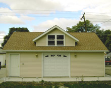 Custom Reverse Gable Garage