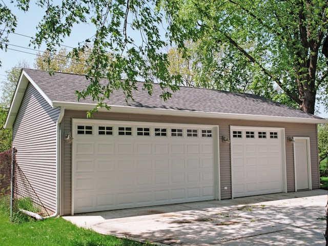 Chicago area garage builders custom garages hip gable for Garage gable