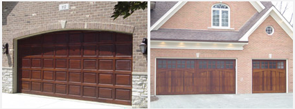 Custom Wood Door Garages