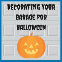 Blue Sky Builders Garage Halloween Decorations