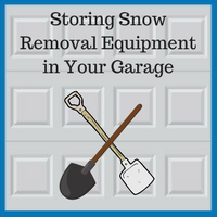 Blue Sky Builders storing snow removal equipment in your garage
