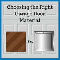 Blue Sky Builders choosing garage door materials