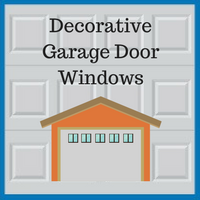 Blue Sky Builders decorative garage door windows