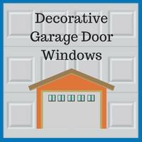 Blue Sky Builders decorative garage door windows