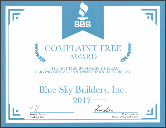 Blue-Sky-Builders-BBB-2017-Complaint-Free-Award