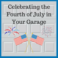 Blue Sky Builders fourth of July garage celebration