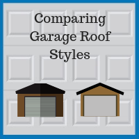 Blue Sky Builders garage roofing style