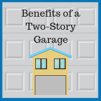 Blue Sky Builders custom two story garage