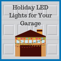 Blue Sky Builders holiday garage decorations