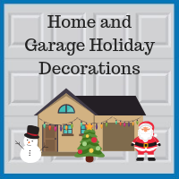 Blue Sky Builders garage holiday decorations