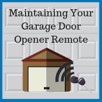 Blue Sky Builders garage door opener remote maintenance