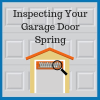 Blue Sky Builders garage door spring inspection