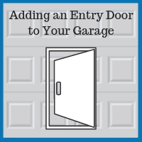 Blue Sky Builders garage entry door