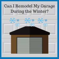 Blue Sky Builders winter garage renovation