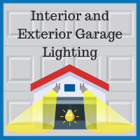 Blue Sky Builders garage lighting interior exterior