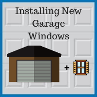 Blue Sky Builders garage window installation