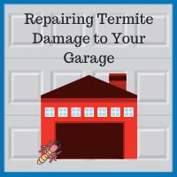 Blue Sky Builders identifying and repairing termite damage