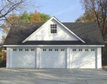 Custom Garage 32by22 Reverse Gable Dormer