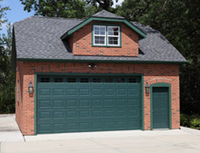 Custom Garage Reverse Clip Gable Shed Dormer 24by24