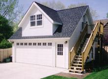 Custom Garage Reverse Gable Dormer 22by22