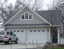 Custom Garage Reverse Gable Dormer 24by24