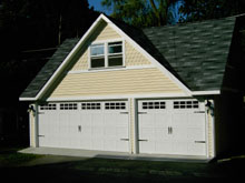 Custom Garage Reverse Gable Dormer 28by22