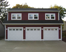 Custom Garage Reverse Gable Shed Dormers 32by22