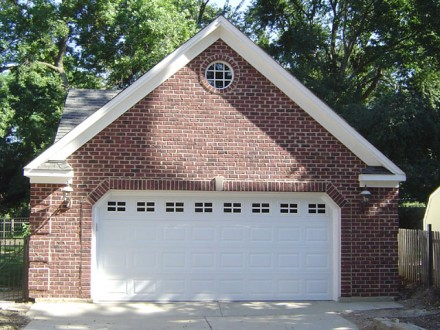 Garage Feature Brick Wall