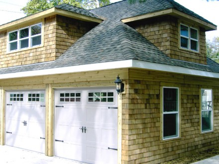 Garage Feature Cedar Shakes