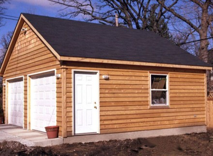 Garage Feature Cedar Siding