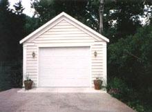 Gable Garage 14by20 White