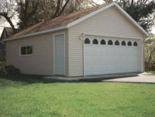 Gable Garage 20by22 With Entry Door