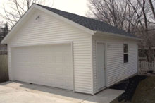 Gable Garage 20by24 Gray
