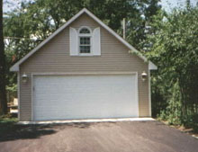 Gable Garage 20by24 White Shutters