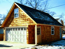 Gable Garage 22by27 Wood Panel