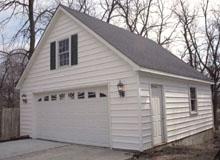 Gable Garage 24by24 White