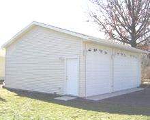 Gable Garage 28by25 Reverse