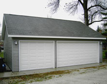 Gable Garage 29by25 Reverse