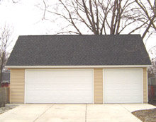 Gable Garage 32by21 Reverse