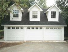 Custom Garage 31by20 Reverse Gable 3 Dormers