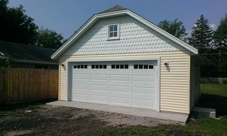Custom Garage Offset Gable 22x30 1
