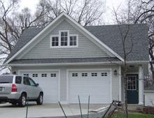 Custom Garage Reverse Gable Dormer 24by24